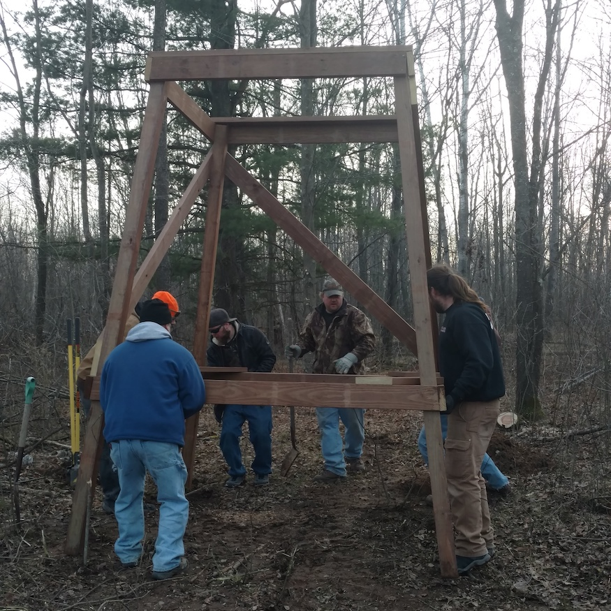 permanent deer hunting stands