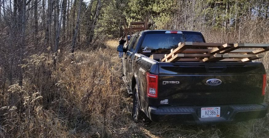 transporting deer stands for installation