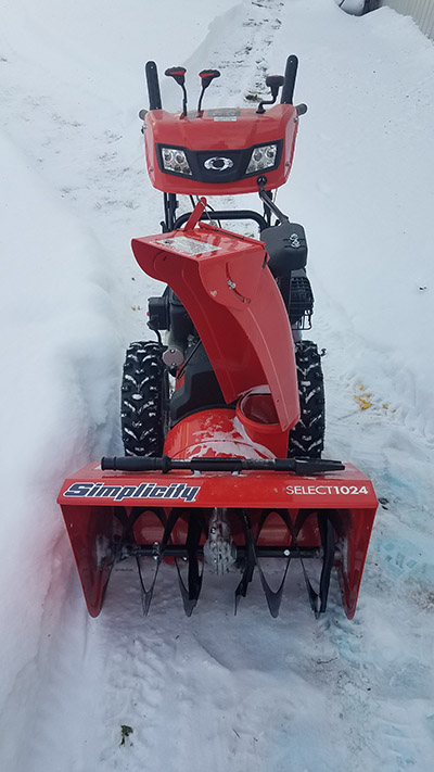 Simplicity Snowblower