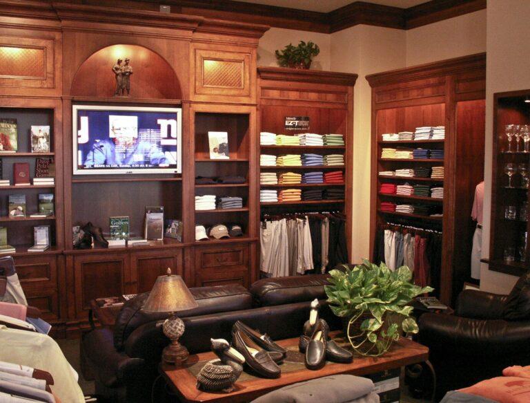 Merchandising shelves at Hammock Bay Country Club